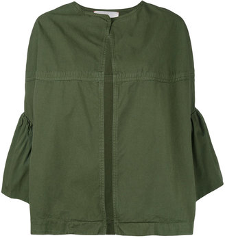 Jucca ruffled sleeves cropped jacket $337.69 thestylecure.com