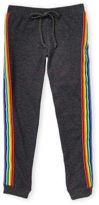Malibu Sugar (Girls 7-16) Rainbow Stripe Sweatpants