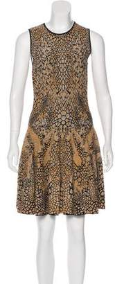 Alexander McQueen Brocade Knee-Length Dress