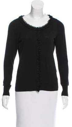 Tahari Ruffle-Trimmed Knit Sweater