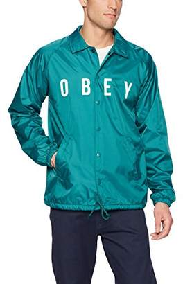 Obey Men's Anyway Nylon Coaches Jacket