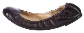 Giuseppe Zanotti Leather Cap-Toe Flats