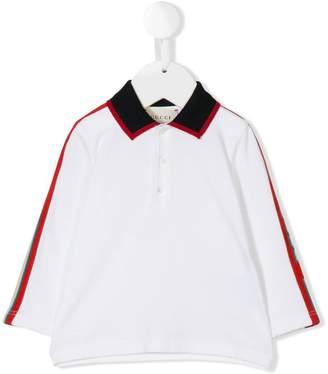 Gucci Kids logo jacquard trim polo shirt
