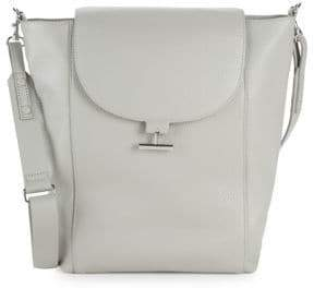 Halston Textured Leather Shoulder Bag