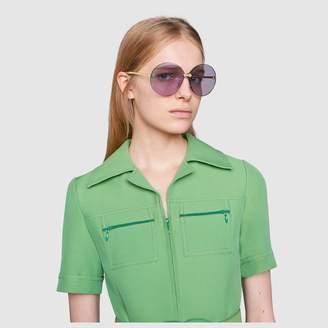 Gucci Round-frame rimless sunglasses