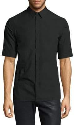 Helmut Lang Double Bar Tab Cotton Button-Down Shirt