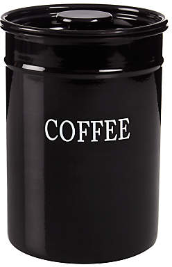 John Lewis & Partners Classic Enamel Coffee Tin, Black