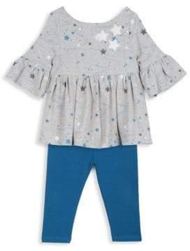 Baby Girl's Two-Piece Top & Leggings Set