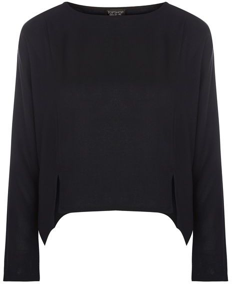 Topshop Topshop Textured crop sweat top