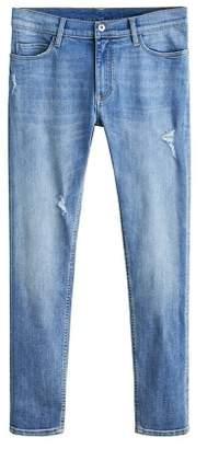 Mango Man MANGO MAN Skinny-fit light wash Dylan jeans