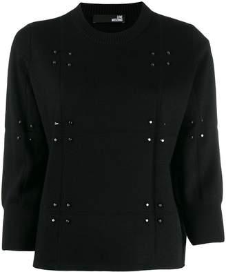 Love Moschino stud-embellished jumper