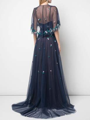 Marchesa tulle gown with capelet