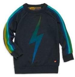 Aviator Nation Little Kid's& Kid's Faded Lightning Bolt Sweatshirt