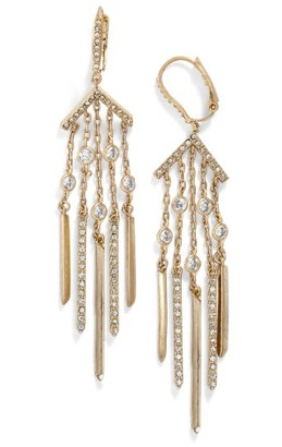 Women's Jenny Packham Stardust Fringe Drop Earrings $65 thestylecure.com