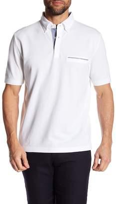 Thomas Dean Point Collar Short Sleeve Regular Fit Polo