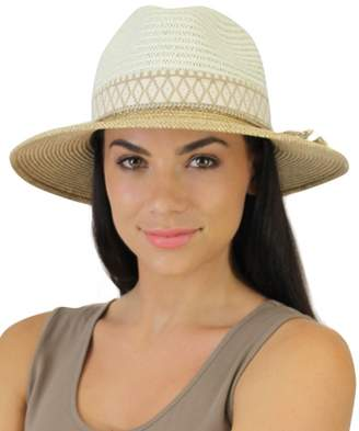 Jendi Two Tone Wide Brim Fedora