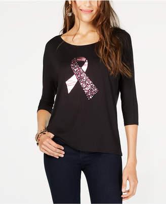 Thalia Sodi Ribbon Graphic-Print T-Shirt, Created for Macy's