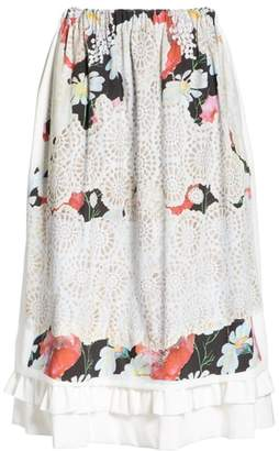 Comme des Garcons Print Midi Skirt