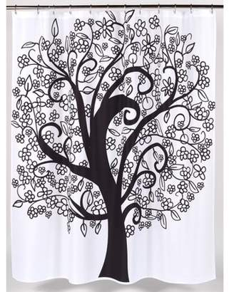 """Carnation Home Fashions Tree of Life"""" Heavier Weight Fabric shower curtain, 100% polyester, size 70""""x72"""""""