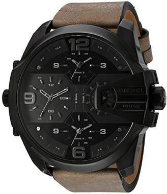 Diesel Men's DZ7390 Uber Chief Black IP Leather Watch