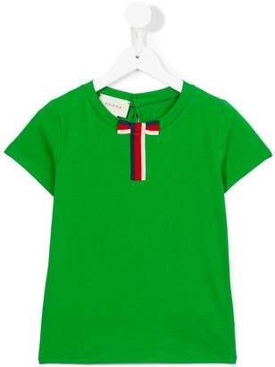 Gucci Kids bow detail T-shirt