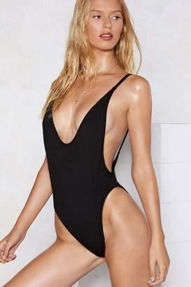 Nasty Gal Alina Ribbed Swimsuit