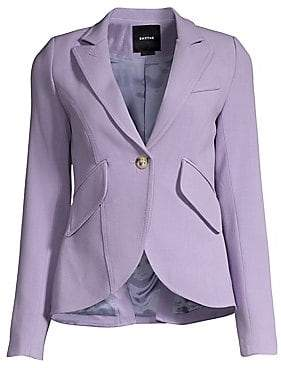 Smythe Women's Stretch Wool One-Button Blazer