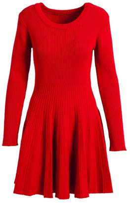Evergreen Fit-And-Flare Sweater Dress