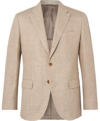 Loro Piana Sand Virgin Wool and Hemp-Blend Hopsack Blazer