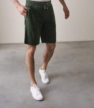 Reiss FINLEY TOWELLING SHORTS Dark Green