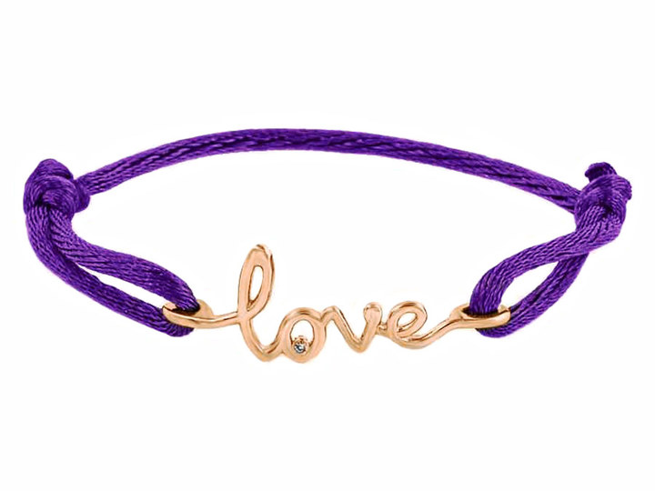 Avanessi One Love Purple Cord Bracelet