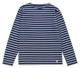 Armor Lux Navy Layette Long Sleeve Sailor Shirt - S - Blue/White