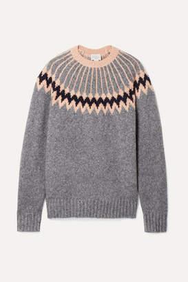 Jason Wu GREY - Intarsia Wool-blend Sweater - Anthracite