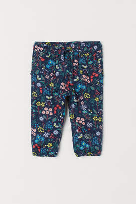 H&M Patterned Twill Pants