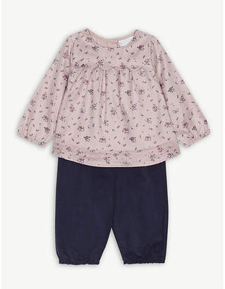 Josie The Little White Company blouse and trousers set 0-24 months
