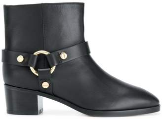 Stuart Weitzman ring detail ankle boots