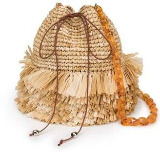 Carolina Santo Domingo fringed bucket bag