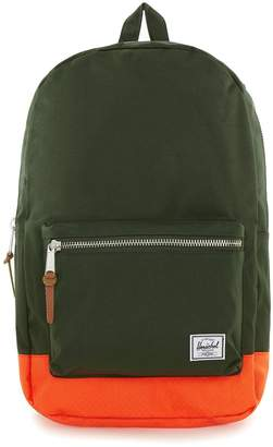 Herschel Khaki and Orange Backpack