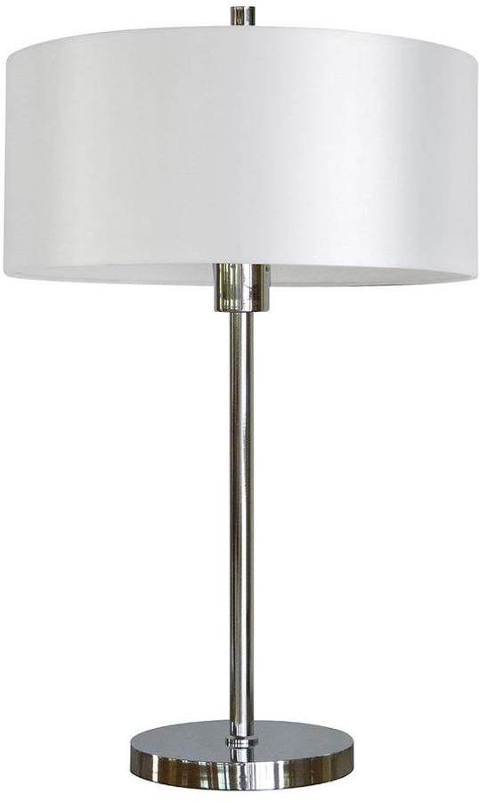 Cambridge SilversmithsCambridge 25 in. Chrome Table Lamp with Chrome Fabric Shade