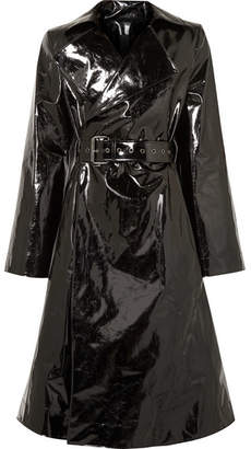 Gareth Pugh Belted Pvc Trench Coat - Black