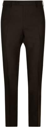 Stefano Ricci Leather Trim Trousers