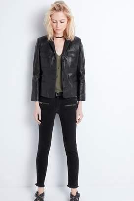 Zadig & Voltaire liam cuir spi black women jacket