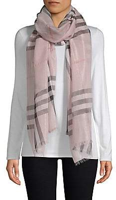 Burberry Women's Giant Plaid Wool-Silk Scarf