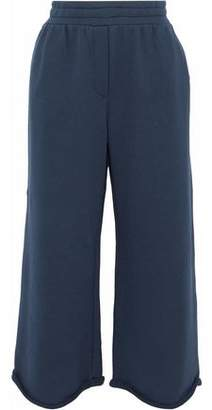 Alexander Wang Cropped Cotton-Blend Jersey Track Pants