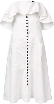 Apiece Apart off-shoulder shirt dress