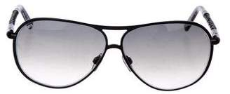 Tod's Embellished Aviator Sunglasses