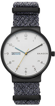 Skagen Three Hand Ancher Gray NATO Day-Date Watch