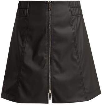 Paco Rabanne Mid-rise rubber mini skirt