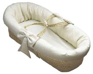 Baby Doll Bedding Pique Moses Basket, Ecru by BabyDoll Bedding