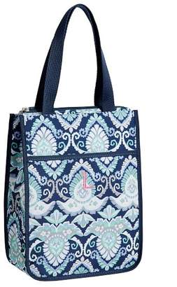 Pottery Barn Teen Gear-Up Navy Deco Medallion Tote Lunch Bag